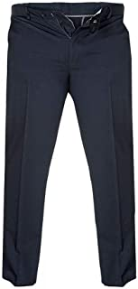 D555 Bruno Mens Big and Tall King Size Cotton Xtenda Waist Chinos Trousers Pants