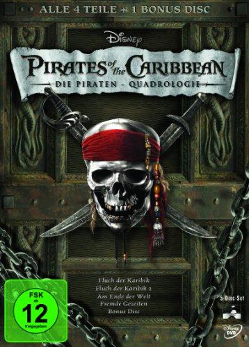Pirates of the Caribbean - Die Piraten-Quadrologie (5 DVDs)