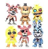Yangzou Five Nights At Freddy's Nightmare Freddy Chica Bonnie Foxy FNAF Toys 6 Pz / Set 12 Cm Action PVC Figure Model Doll Fazbear Bear Puppet