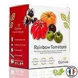 Cultivea – Mini Kit Huerto de Tomates Arcoíris – 100% Semillas Bio - Jardina,...