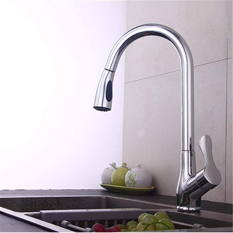 Pyty123-Faucet Wasserhahn Ziehen Frei Versenkbare Küchenschüssel Drehende Dusche Mit Heiem Und Kaltem Wasserhahn