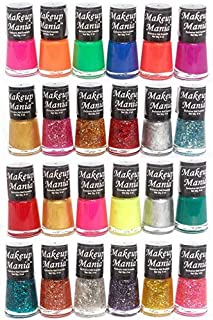 Makeup Mania Exclusive Nail Polish Set (Multicolor No.71, 74, Pack of 24)