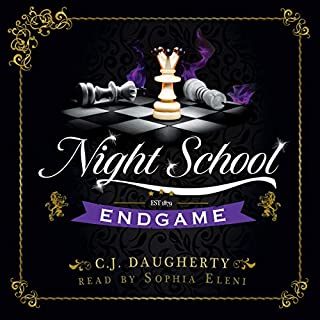 Night School: Endgame      Cimmeria Academy YA Thrillers, Book 5              Written by:                                                                                                                                 C. J. Daugherty                               Narrated by:                                                                                                                                 Sophia Eleni                      Length: 9 hrs and 38 mins     Not rated yet     Overall 0.0