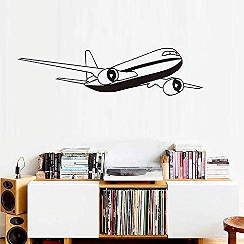Pegatinas de pared Avión Dibujos animados Calcomanía Sala de estar Decoración de la casa ETIQUETA ETIQUETA DE VINILA DE VINILA ADHESIVE ART MURALES 59x15cm