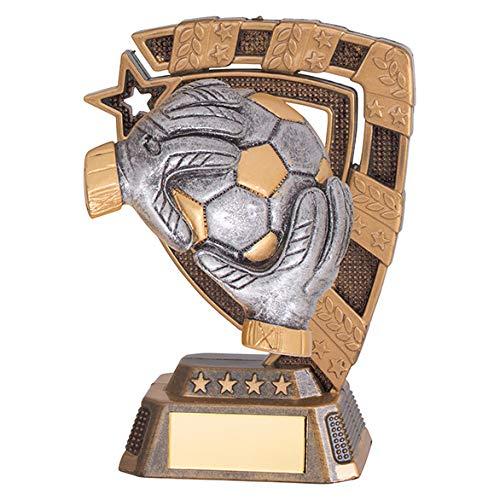 Football Goalkeeper Euphoria Antique Silver & Gold Trophy,130mm, Free...