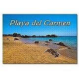 'N/A' México Playa del Carmen Beach Rompecabezas para Adultos Niños 1000 Piezas Juego de Puzzles de Madera para Regalos Decoración del hogar Recuerdos Especiales