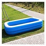 GYNFJK Piscina Familiar Piscina Infantil Rectangular, Espesar PVC Fast Set Pool Inflable sobre El Suelo, Summer Water Party Lounge Pool para Adolescentes Adultos, Azul,260x171x60cm