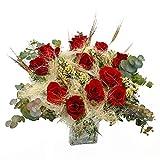 Ramo de rosas Ripoll - Flores RECIÉN CORTADAS y NATURALES de Gran Tamaño - ENTREGA EN 24h con Dedicatoria Personalizable Gratuita - RAMO DE ROSAS PARA DEDICAR
