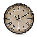 LAWEI Wanduhr Vintage Küchenuhr mit Geräuscharmem Uhrwerk Kinderuhr ohne Tickgeräusche