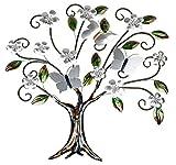 Formano Wanddeko aus Metall Baum mit Blüten