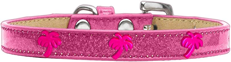 Mirage Pet Products Pink Palm Tree Widget Dog Collar Ice Cream Size 16