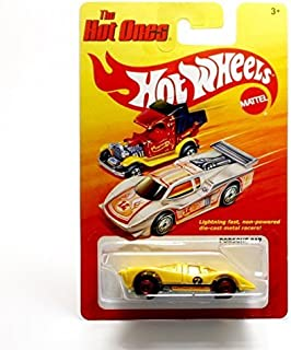 PORSCHE 917 (YELLOW) * The Hot Ones * 2011 Release of the 80's Classic Series - 1:64 Scale Throw Back HOT WHEELS Die-Cast Vehicle
