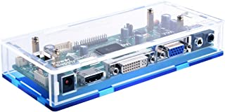 "GeeekPi Acrylic Case for NT68676 HDMI+VGA+DVI+Audio Input LCD Controller Driver Board or HSD190MEN4 M170EN06 17"" 19"" 1280x..."