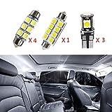 Cobear para Tiguan(sunroof and no sunroof) Super Brillante Fuente de luz LED Interior Lámpara de Coche Bombillas de Repuesto Blanco Paquete de 8