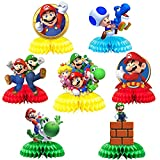 7Pcs Honeycomb Style Centerpiece For Super Mario,Video Games Themed...