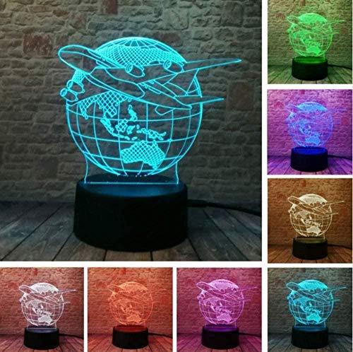 Baby Spielzeug 3D creativa lámpara de moda visual planes de la Tierra globo tierra efecto luz 16 colores cambios niño niños mesa escritorio noche luz