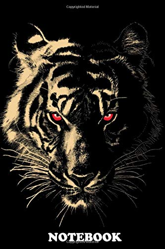 """Notebook: Story Of The Tiger , Journal for Writing, College Ruled Size 6"""" x 9"""", 110 Pages"""