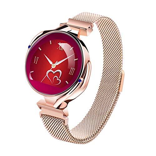 Z38 Fashion Ladies Smart Watch Empresa Impermeable Tasa del Corazón Presión Arterial Monitor De Sueño Monitoreo Smartwatch Ladies Reloj Pulsera Regalo para Android iOS,C