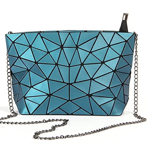 Hot One Bolso de hombro cruzado bolsos mujer verano bolsos de fiesta regalos originales para mujer (Grieta Azul)