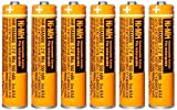 6PCS NI-MH AAA Rechargeable Battery 1.2V 550mAh for Panasonic Cordless Phone HHR-55AAABU Replacement Battery …