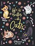 Cat Planner Calendar 2021-2022: Jan 2021 - Dec 2022, Organizer & Schedule Agenda with Monthly Spread Views | 2 Year Calendar Monthly Planner with Holidays, Goal Setting | Christmas Gifts Ideas