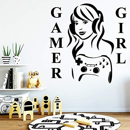 yaonuli Art player meisje decoratieve sticker waterdicht huis decoratie muursticker huis decoratie sticker
