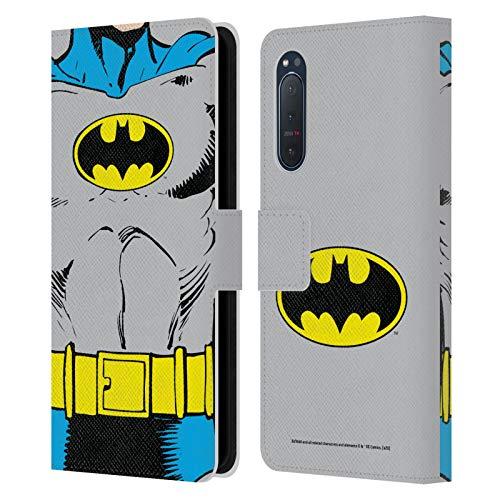 Head Case Designs Oficial Batman DC Comics Disfraz clsico Logotipos Carcasa de Cuero Tipo Libro Compatible con Sony Xperia 5 II 5G