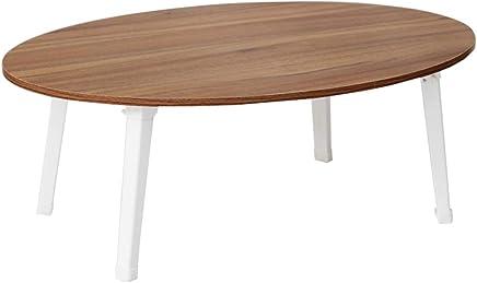 C-J-Xin 楕円形のテーブル、リビングルームバルコニーラップトップテーブルベッドルームベッドテーブルレジャーテーブルフロアテーブル多機能の小さなコーヒーテーブル 世帯テーブル (色 : D, サイズ さいず : 80*55*30cm)