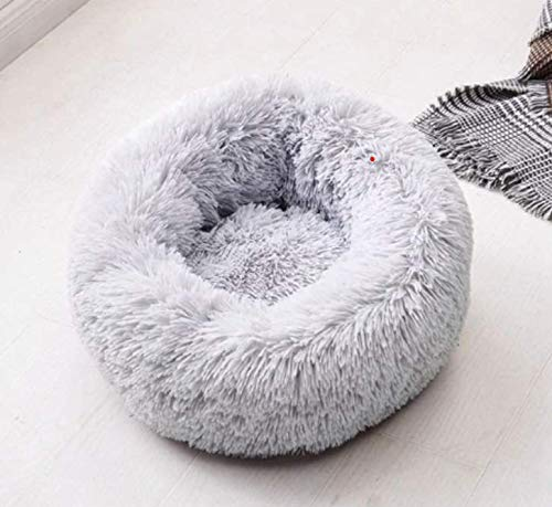 Petfekt - Gemütliches Haustierbett, reduziert Angst und Stress: Das natürliche Design des Betts sorgt für sofortige Entspannung und Komfort. (XL (80cm), Grau)