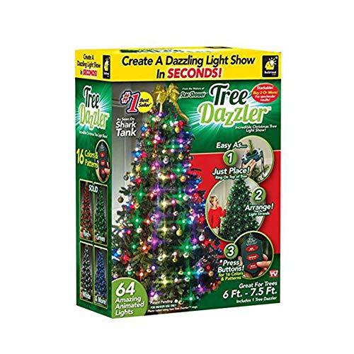 BlingBling 48/64 LED Weihnachts-Lichterketten Trapez Kegel Warmweiß Netz, Baum-Dazzler, Weihnachtsbaum, Dekoration, Lampen 5.9FT Weihnachtsbeleuchtung Weihnachtsdeko Partydeko Xmas,48lights