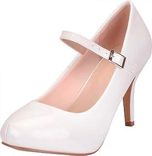 Cambridge Select Women's Hidden Platform High Heel Stiletto Mary Jane Pump