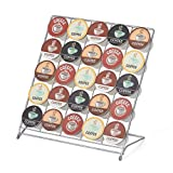 Nifty Coffee Pod Storage Rack – Powder Coated Steel, Compatible with K-Cups, 25 Single-Serve Pod Holder, Folds Flat, Home or Office Kitchen Counter Organizer, Lightweight Design