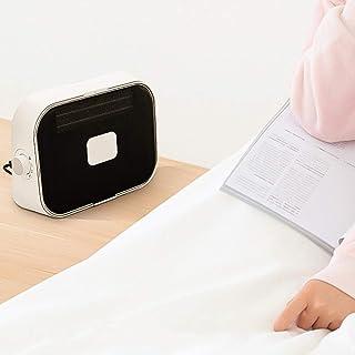 Calefactor Calentador de Silencio bajo Ruido Calefacción y refrigeración de Alta Potencia cómoda asa Impermeable a Prueba de Fuego de Escritorio del Dormitorio QIQIDEDIAN