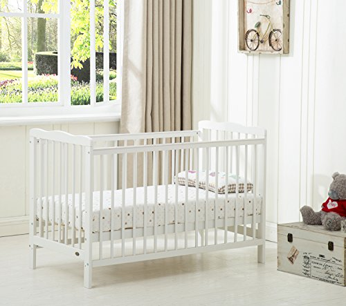 MCC Brooklyn Baby Cot Crib with Aloe Vera Water Repellent Mattress