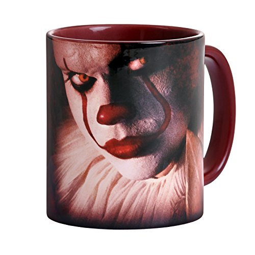 Elbenwald Stephen Kings ES Tasse Clown Pennywise Rundumdruck 320 ml Keramik rot