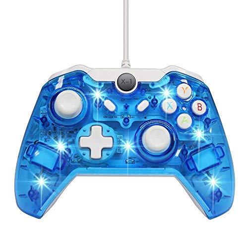 Chasdi Xbox one Wired Controller for All Xbox One Models and PC Clear...