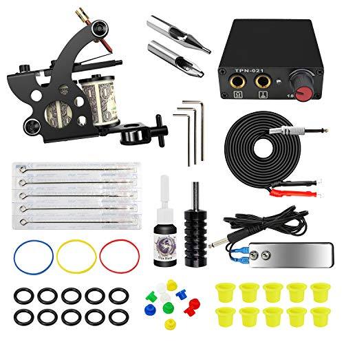 ITATOO Complete Tattoo Kit- Best Beginner Tattoo Machine Kits
