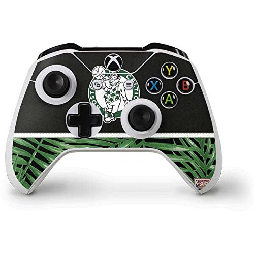Skinit Decal Gaming Skin Compatible with Xbox One S Controller - Officially Licensed NBA Boston Celtics Retro Palms Design