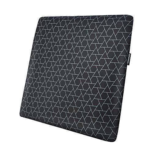 Amazon Basics - Cuscino per seduta, in memory foam, motivo a triangoli, quadrato