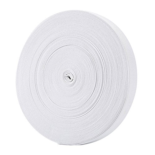 Hicarer 3/4 Inch Wide Sewing Elastic Bands Elastic Spools 21.5 Yards (White)