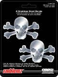 Chroma 1206 Emblemz Silver 6' x 8' Skull and Crossbones Stainless Steel Decal