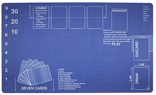 Inked Playmats Blueprint Playmat Inked Gaming TCG Game Mat for Cards