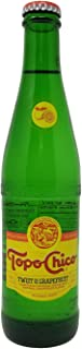 Topo Chico -Twist of Grapefruit - Carbonated Natural Mineral Water with Natural Grapefruit Flavor - 12 fl oz (355mL) (12 Glass Bottles)