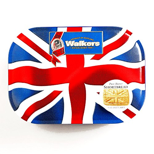 Walkers Shortbread Union Jack Cookie Tin 4.2 ounce each, Traditional Butter Shortbread Cookies from the Scottish Highlands, Quality Ingredients, No Artificial Flavors