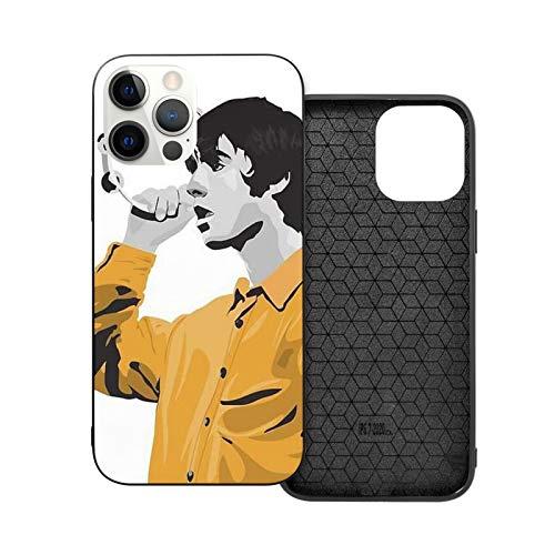 Compatibile con iPhone 12/11 PRO Max 12 Mini SE X/XS Max XR 8 7 6 6s Plus Custodie Liam Gallagher Oasis Nero Custodie per Telefoni Cover