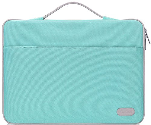 ProCase 14-15.6 Inch Laptop Sleeve Case Protective Bag, Ultrabook Notebook Carrying Case Handbag for MacBook Pro 16'/14' 15' 15.6' Dell Lenovo HP Asus Acer Samsung Sony Chromebook Computer -Mint Green