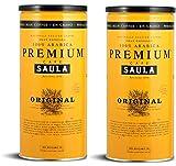 Café Saula grano, Pack 2 botes de 500 gr. Premium Original 100% arabica