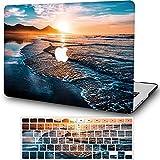 Funda rígida para MacBook de 12 pulgadas con pantalla Retina (modelo A1534, versión 2017 2016 2015) cubierta de plástico duro mate con cubierta de teclado AQYANGELL -FJ18 Beach