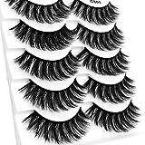 CapsA New Eyelashes, Party False Eyelashes Lashes 3D Eyelash Imitation Mink Natural Thick False Eyelash 5 Pairs (G)