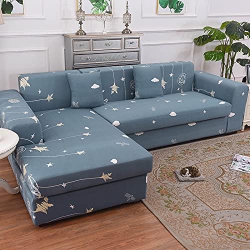 Funda de sofá elástica seccional elástica para Sala de Estar Funda de sofá en Forma de L Funda de sillón A22 de 3 plazas